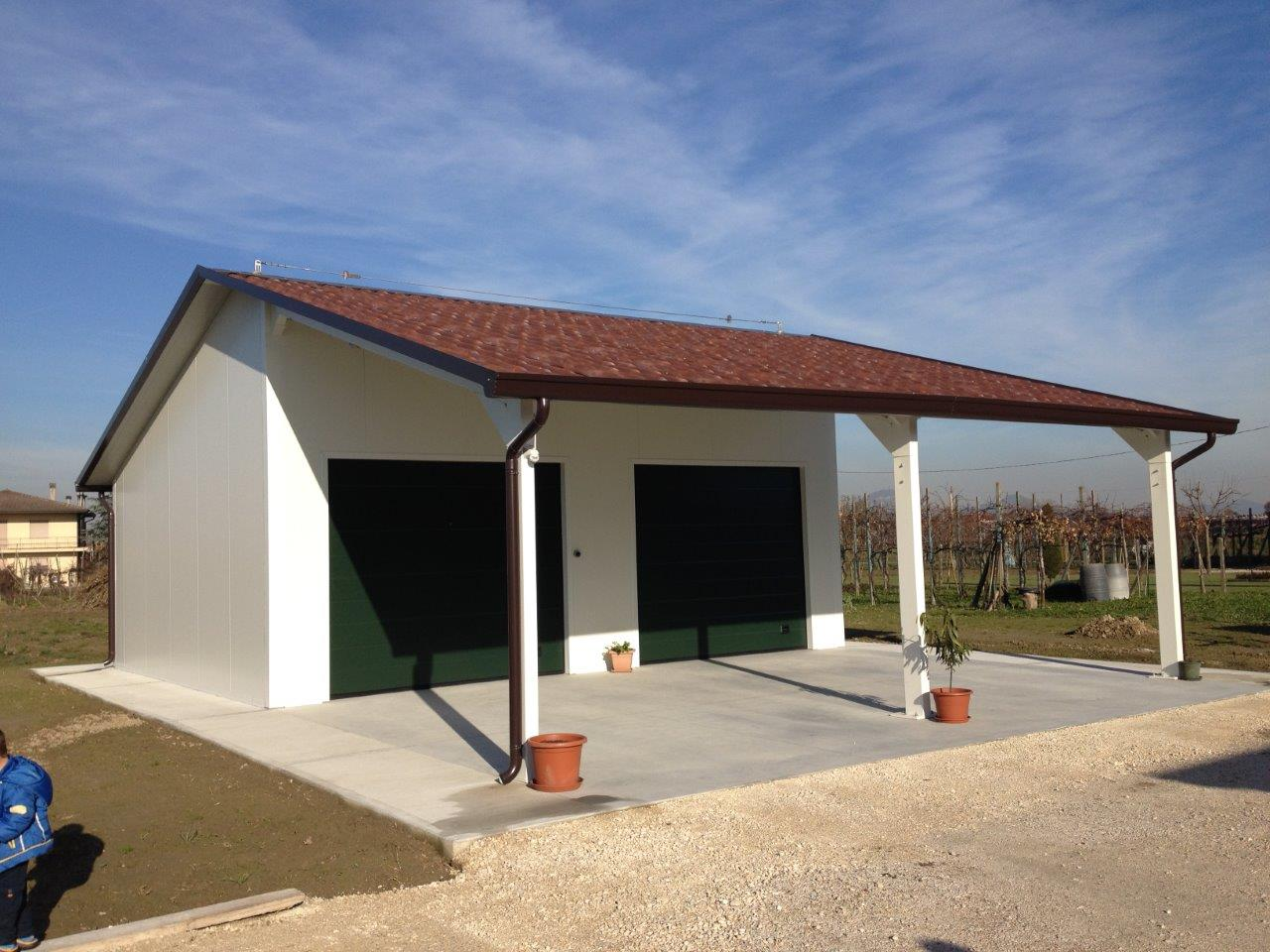 pent prefabricated roof superior flat product garage knight concrete garages range